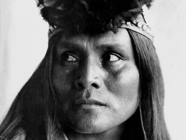 Женщина племени навахо.  Нью-Мексико.