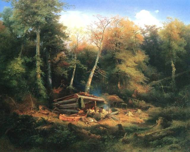 Indian-Camp-In-The-Forest