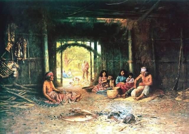 Interior-Of-A-Pomo-Dwelling